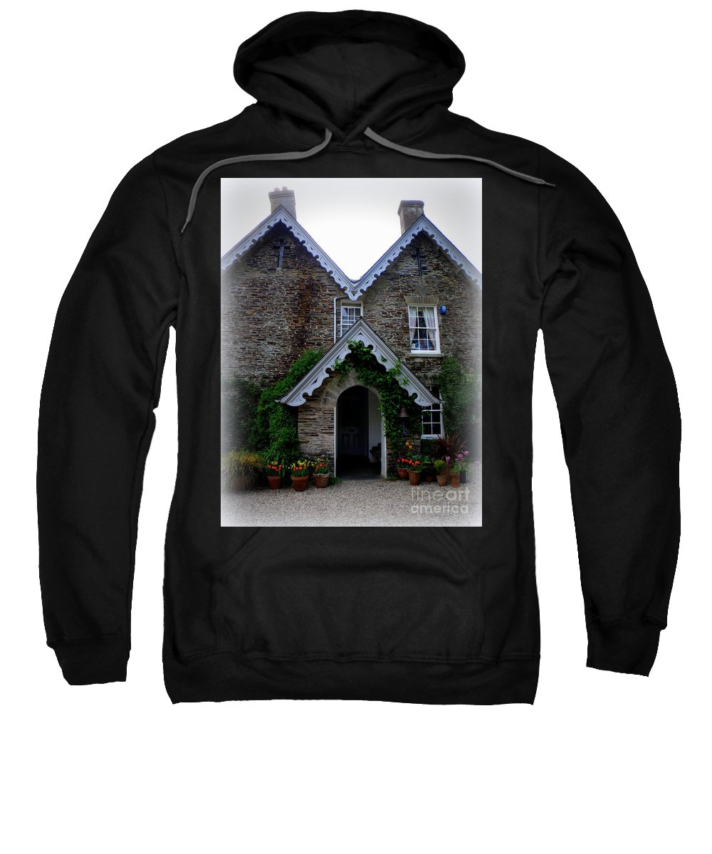 The Old Rectory Sweatshirt featuring the photograph The Old Rectory At St. Juliot by Lainie Wrightson
