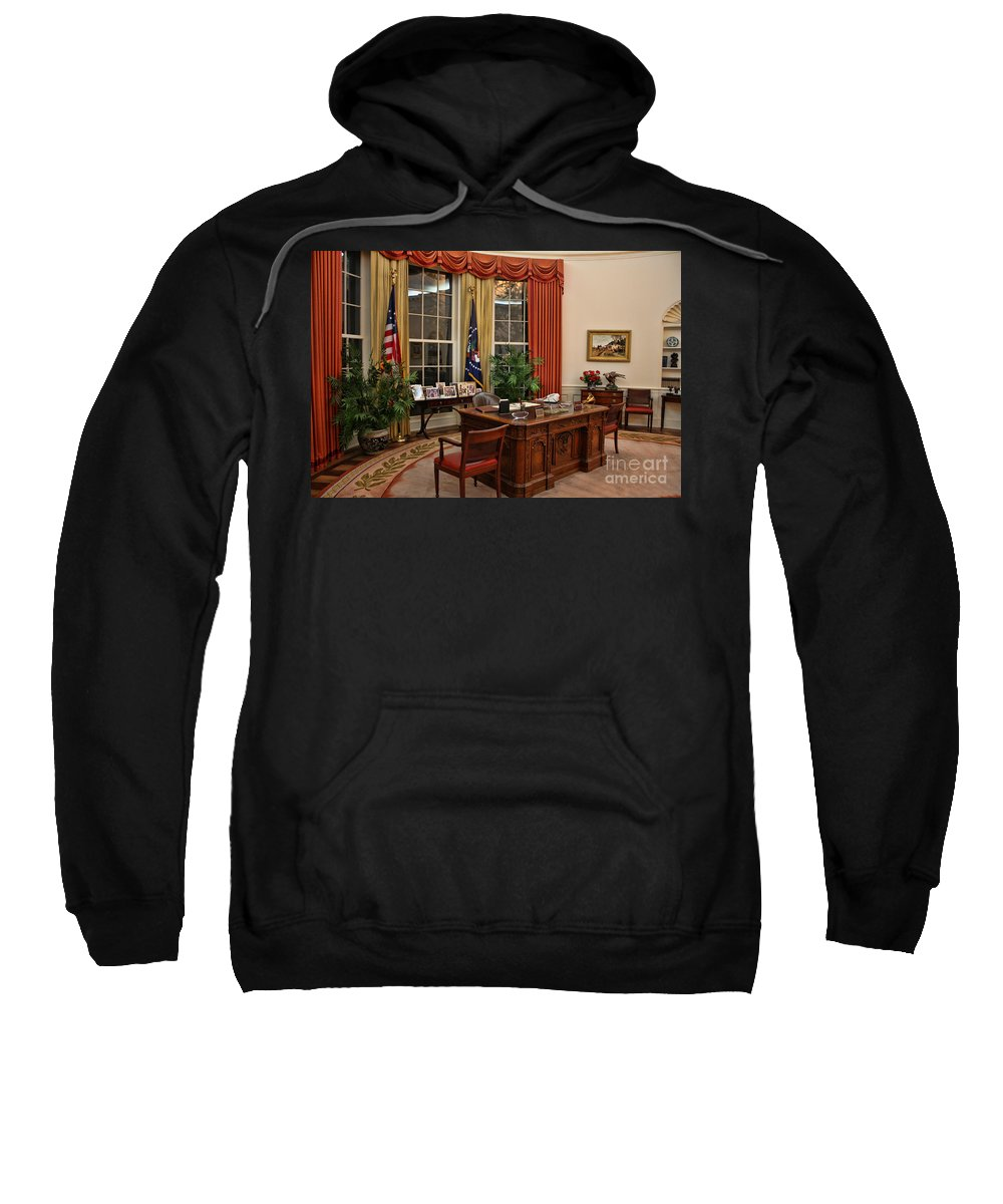 Ronald Reagan Sweatshirt featuring the photograph The Oval Office by Tommy Anderson