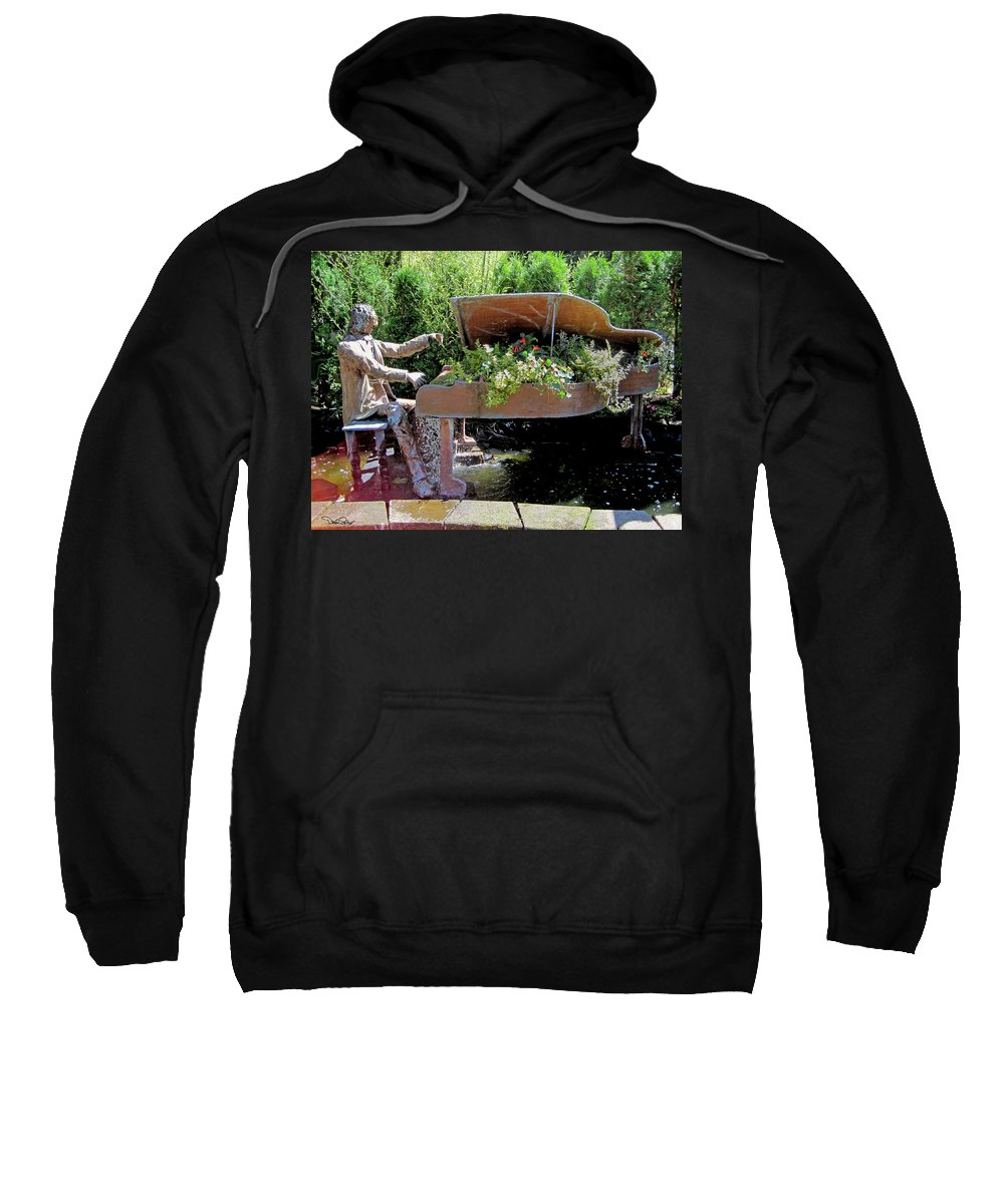Musical Sweatshirt featuring the photograph The Pianist by David Salter