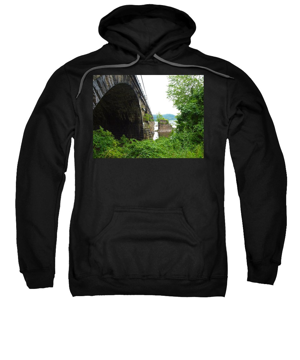 Bridges Sweatshirt featuring the photograph the river in Pennsylvania by Robert Margetts