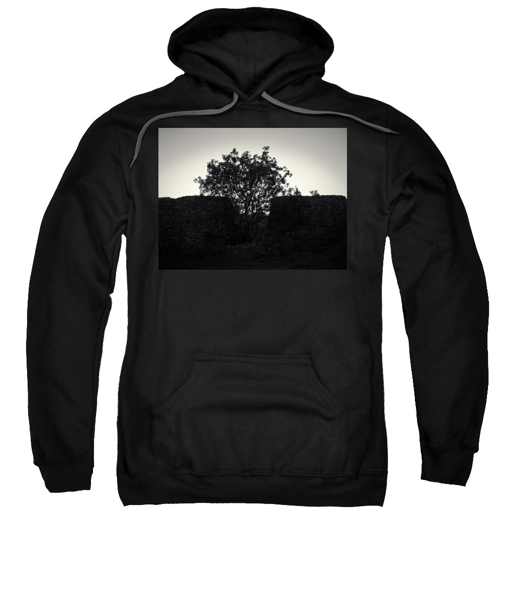 Jouko Lehto Sweatshirt featuring the photograph The Ruins Of The Castle Of Ali Pasha In Bw by Jouko Lehto