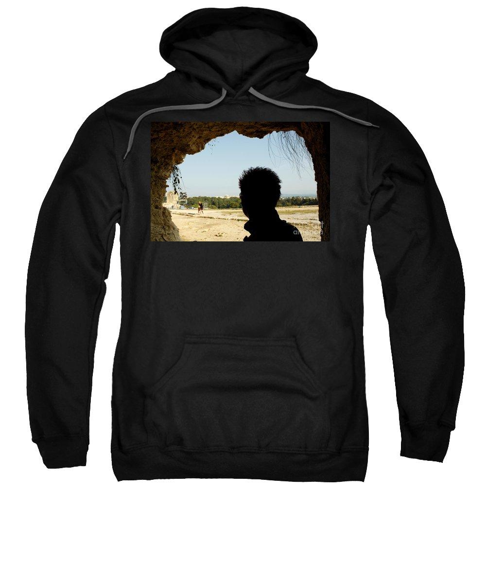 Taormina Sweatshirt featuring the photograph The Shadow And The Light by Donato Iannuzzi