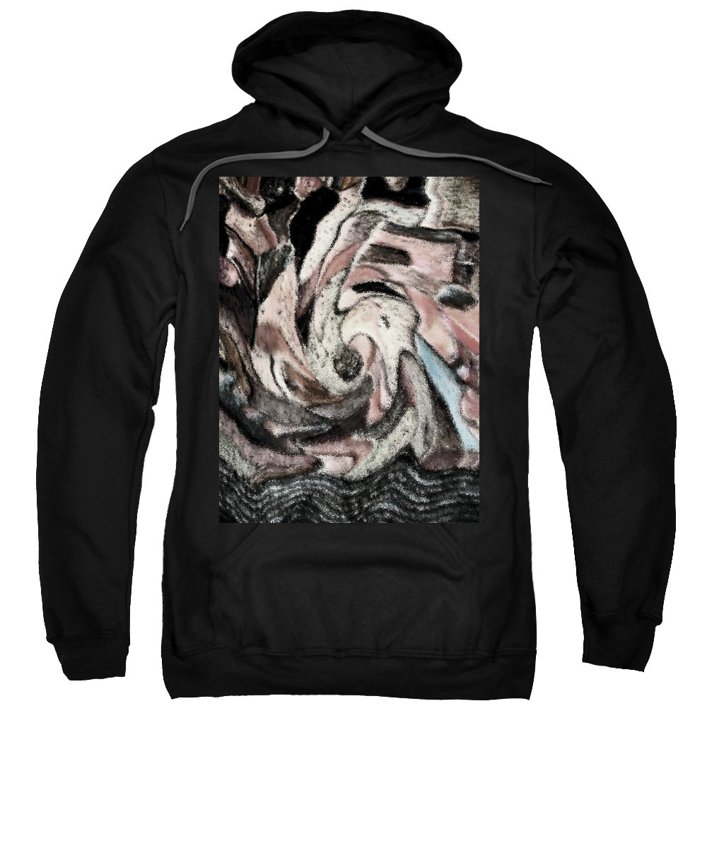 Abstract Sweatshirt featuring the digital art The Source by Lenore Senior