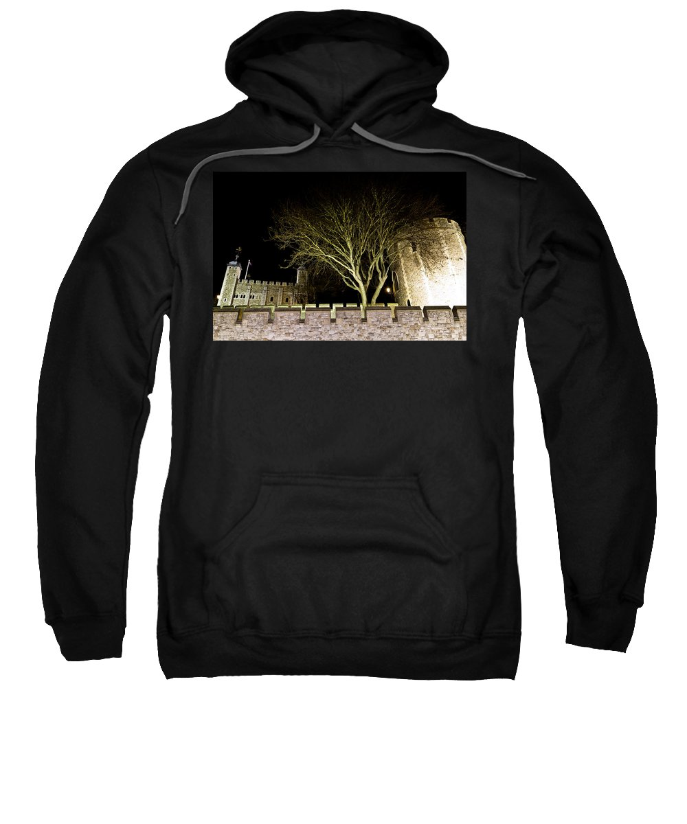 Tower Sweatshirt featuring the photograph The Tower Of London At Night by David Pyatt