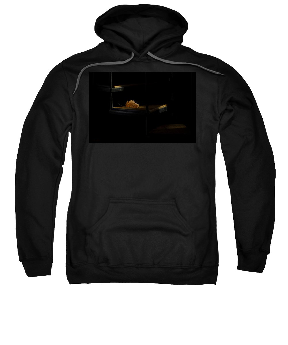 Leaf Sweatshirt featuring the photograph The Withered Leaf by Ron Jones