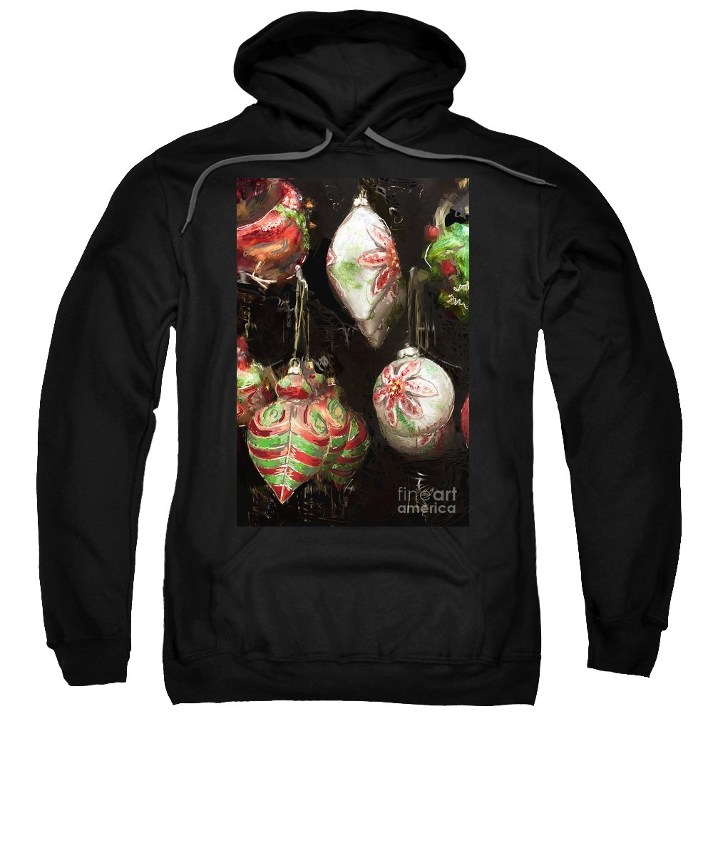 Digital Sweatshirt featuring the painting Time For Decorating by Dinah Anaya