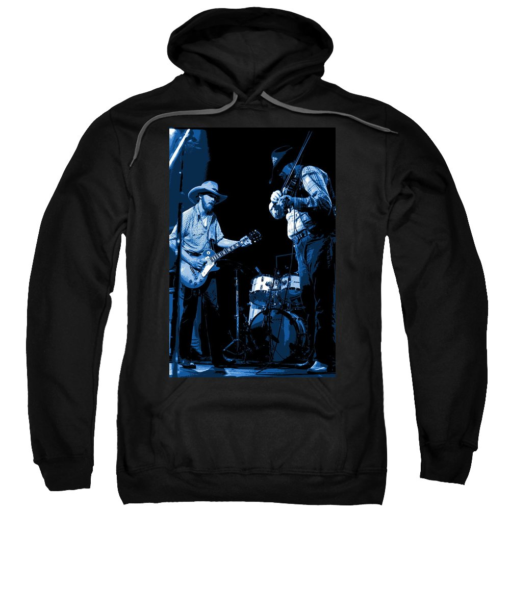 Tommy Crain Sweatshirt featuring the photograph Tommy And Charlie Play Some Blues At Winterland In 1975 by Ben Upham