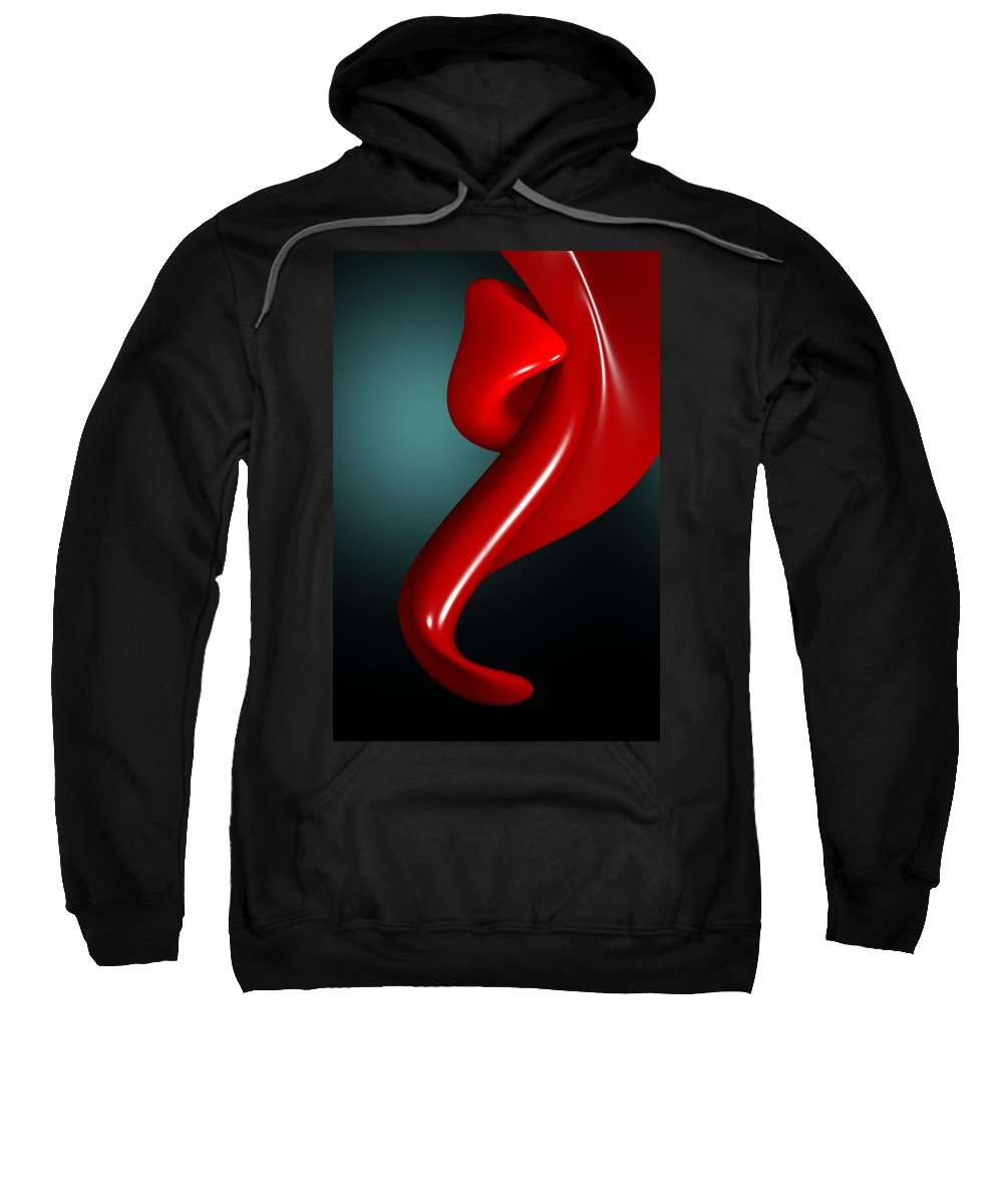 Tongue Play Sweatshirt featuring the digital art Tongue Play by Richard Rizzo