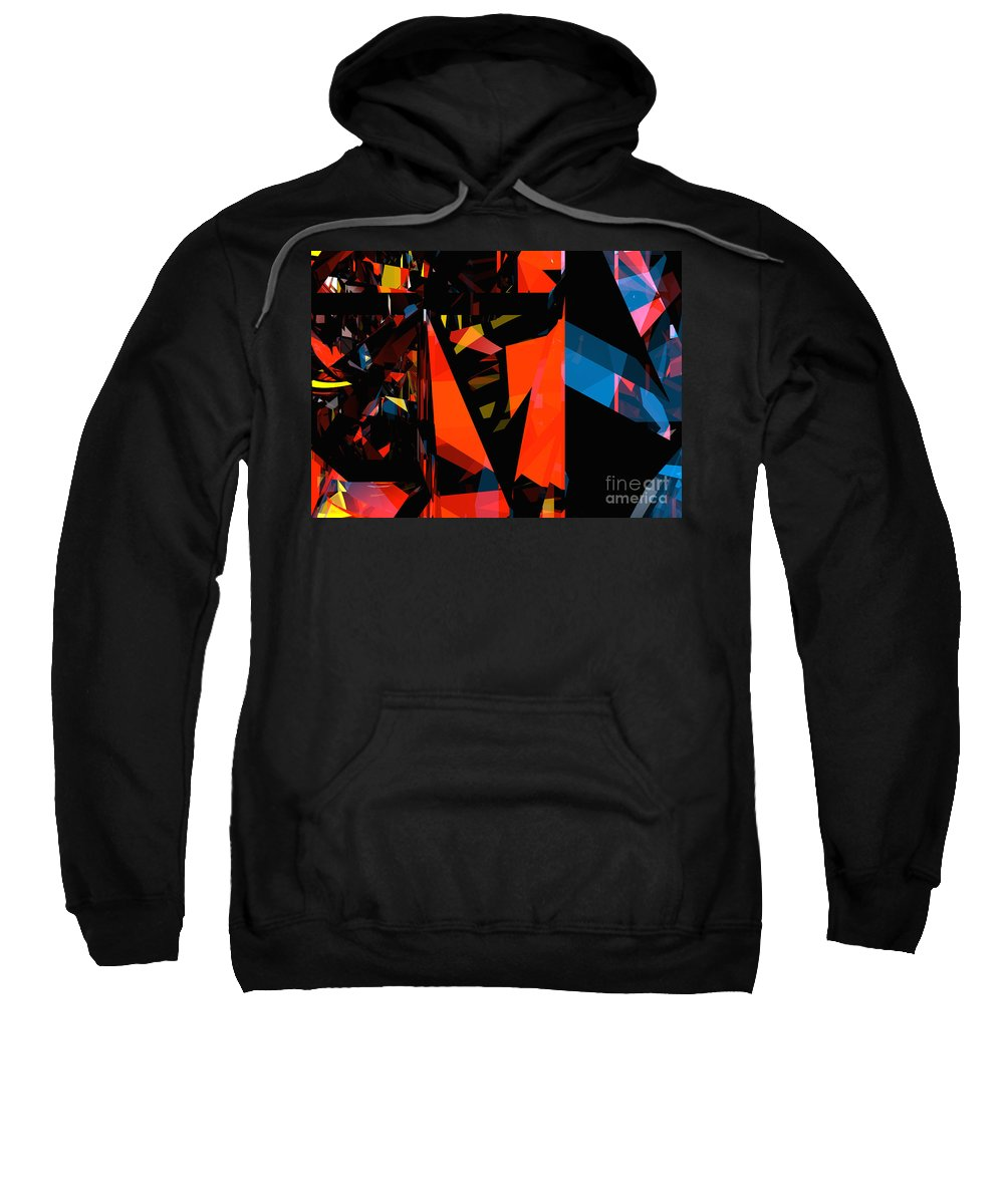 Abstract Sweatshirt featuring the digital art Tower Series 3 by Russell Kightley