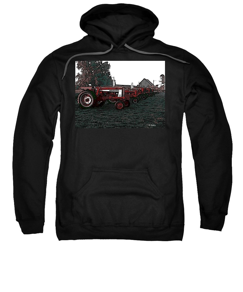 Tractor Sweatshirt featuring the photograph Tractor Row by George Pedro
