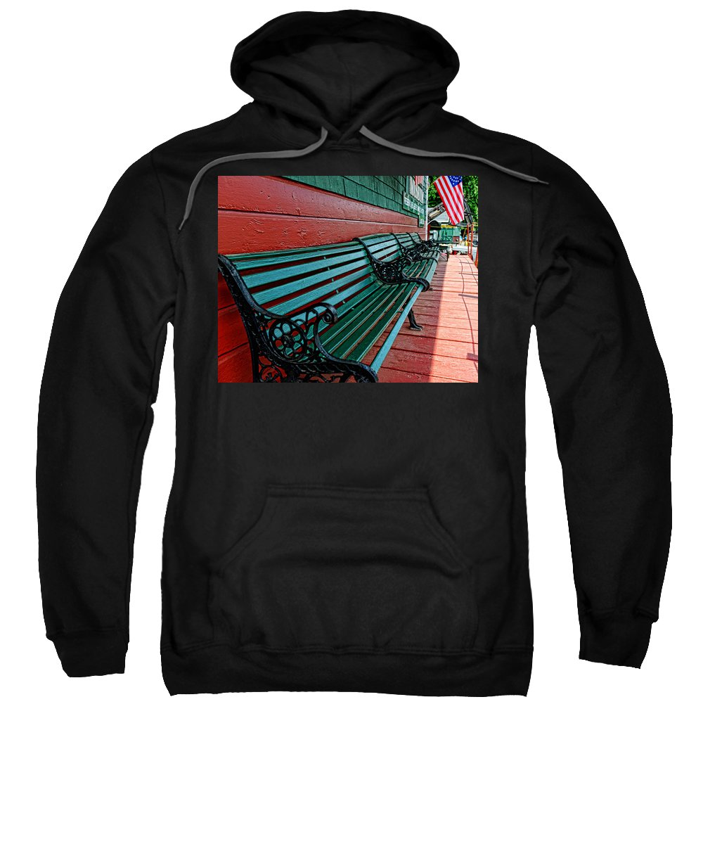 Train Station Sweatshirt featuring the photograph Train Station Waiting Area by Paul Ward