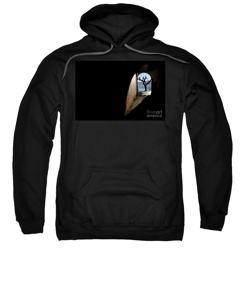 Tree Sweatshirt featuring the photograph Tree And Arch by Mats Silvan
