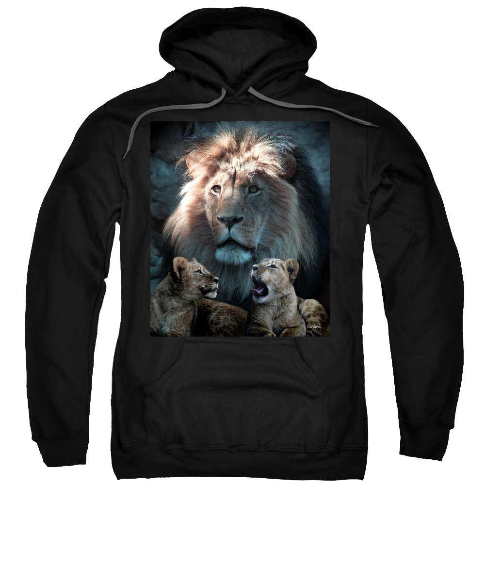 Lions Sweatshirt featuring the photograph Tribute To An Old Friend by Bill Stephens