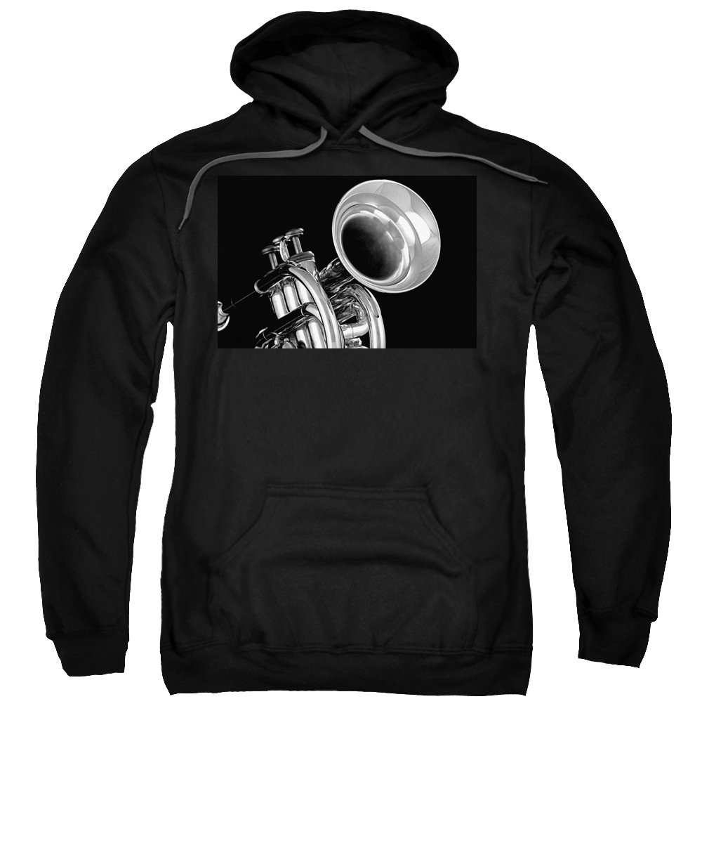 Fine Art Sweatshirt featuring the photograph Trumpet Up Front by M K Miller