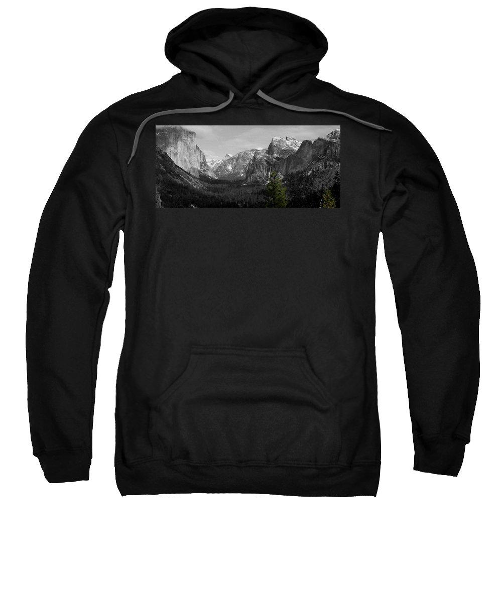 Selective Color Photograph Sweatshirt featuring the photograph Tunnel View Selective Color by Travis Day