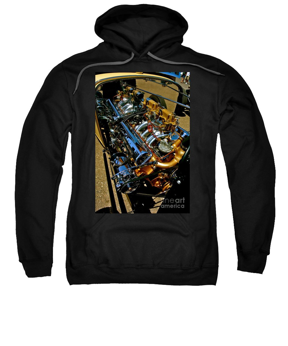 Ford Sweatshirt featuring the photograph Twin Engines by Customikes Fun Photography and Film Aka K Mikael Wallin