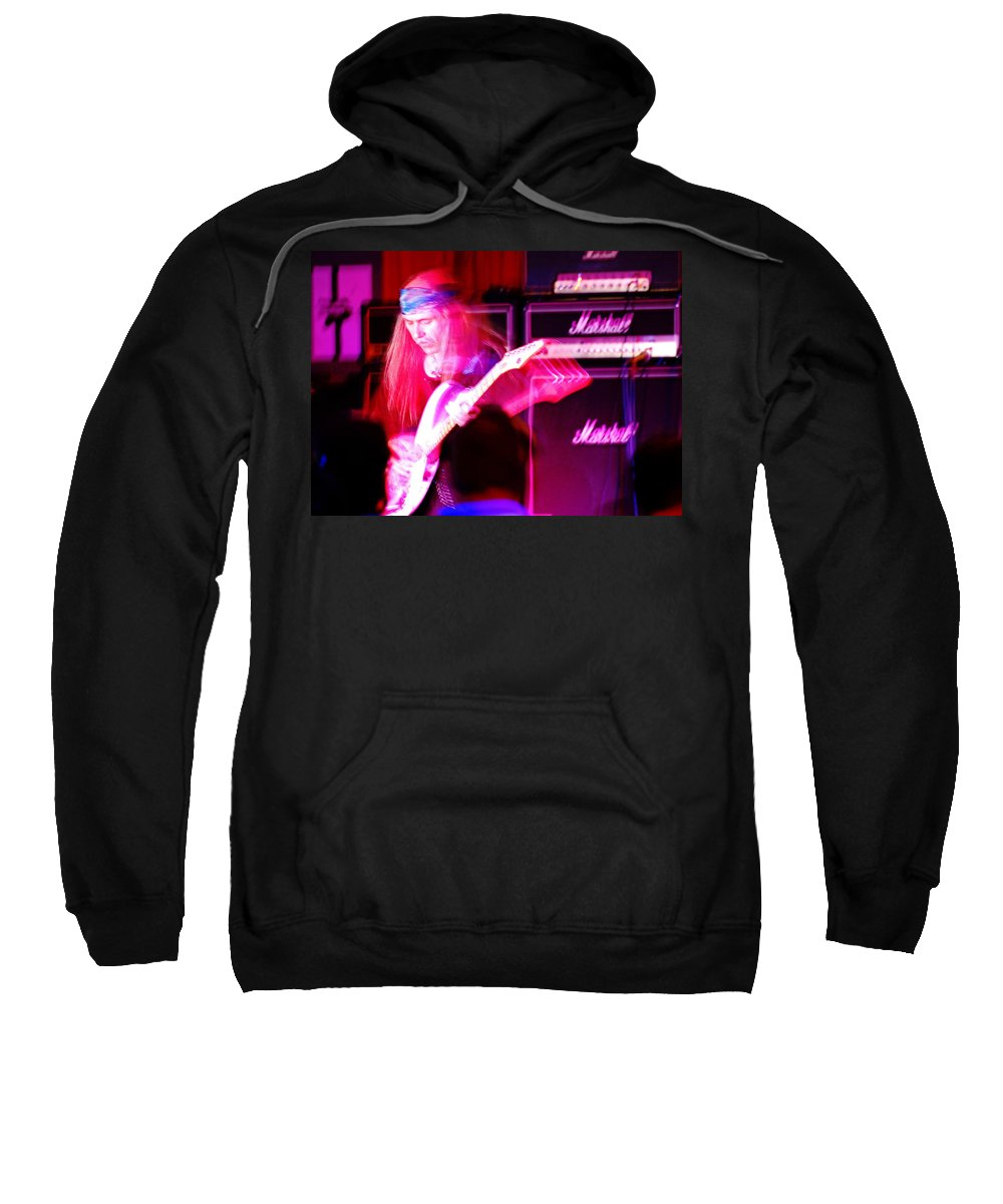 Uli Jon Roth Sweatshirt featuring the photograph Ulrich Roth 2008 by Ben Upham