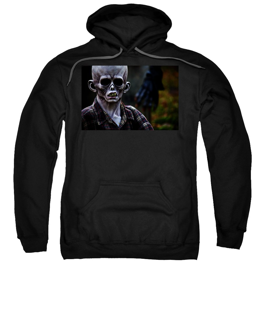 Horror Sweatshirt featuring the photograph Unknown by Karol Livote