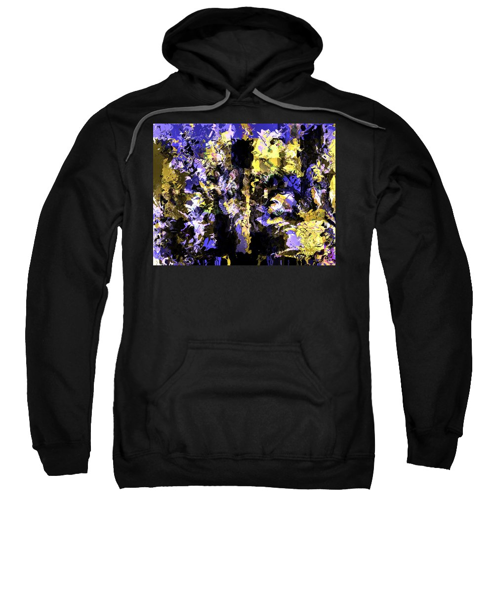Sweatshirt featuring the mixed media Untitled Blue by Terence Morrissey