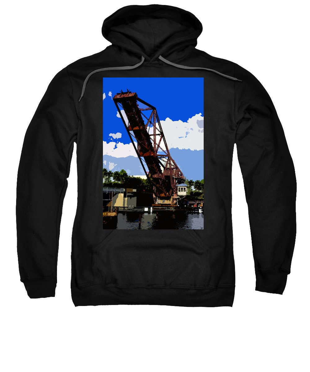 Art Sweatshirt featuring the painting Up Bridge by David Lee Thompson