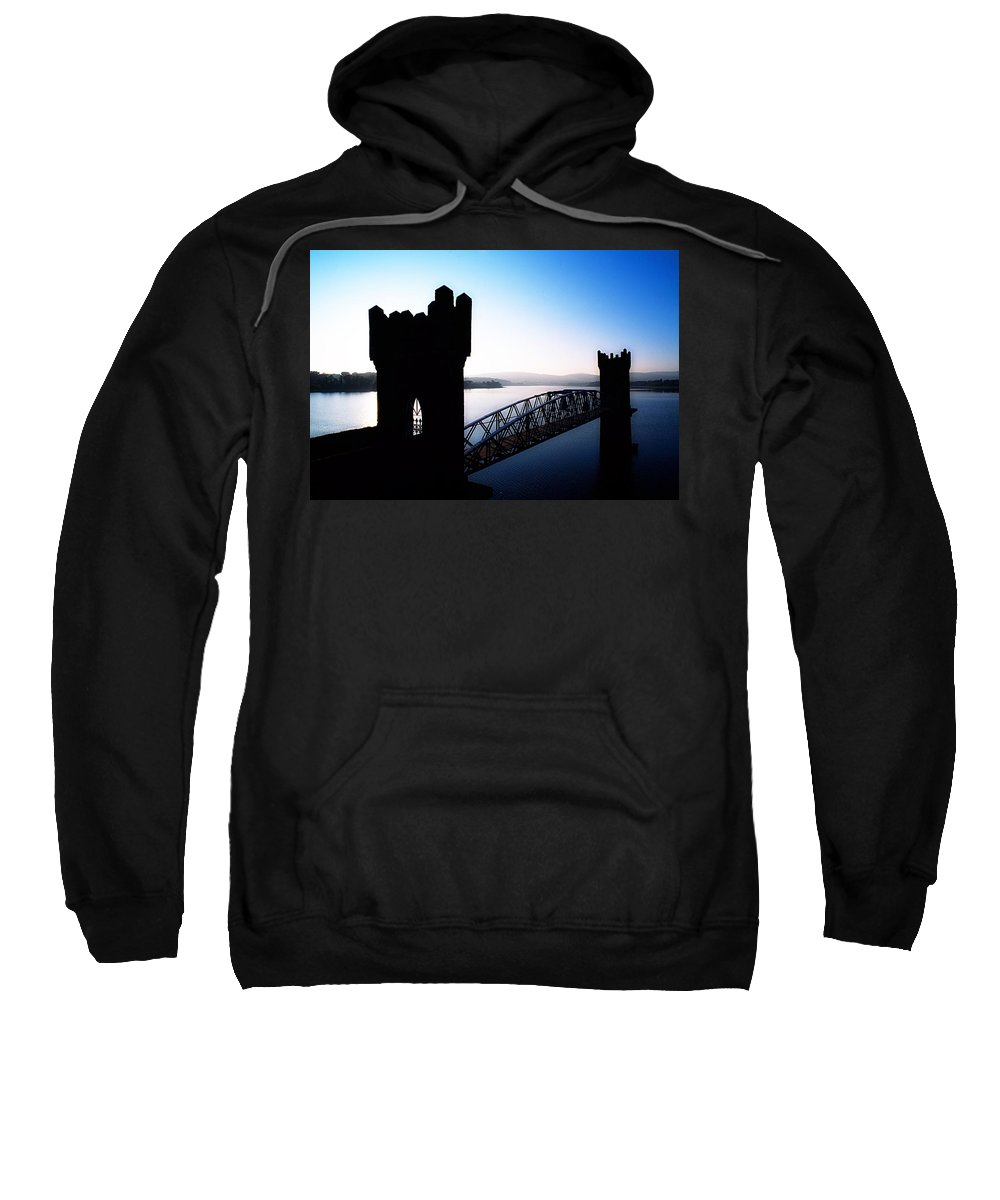 Blue Sky Sweatshirt featuring the photograph Vartry Reservoir, Roundwood, County by The Irish Image Collection