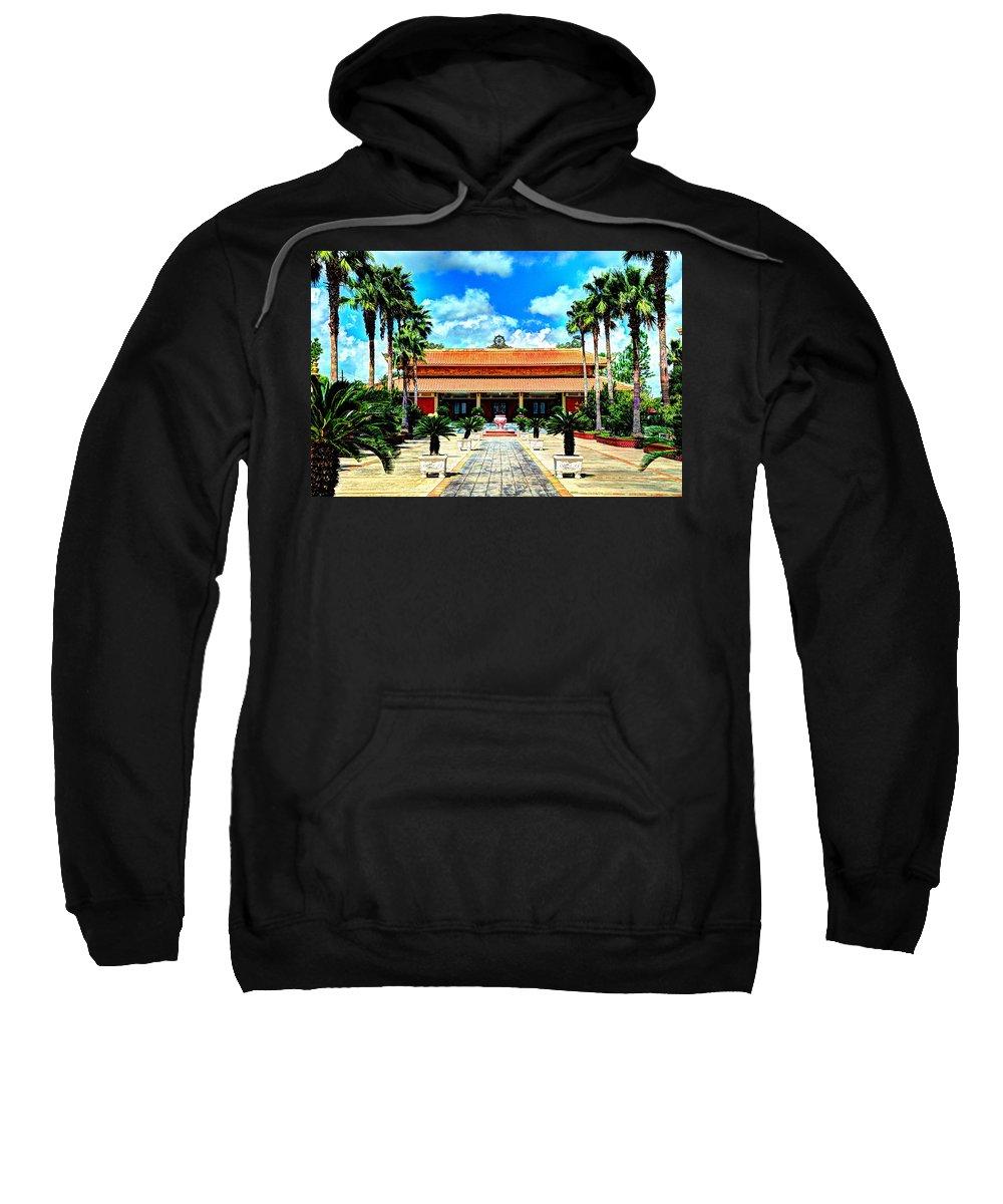 Buddhist Sweatshirt featuring the photograph Vietnamese Buddhist Temple by David Morefield