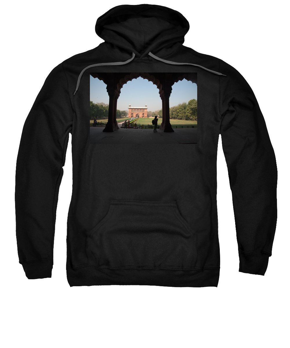 Delhi Sweatshirt featuring the photograph View From Inside The Red Fort With Tourist by Ashish Agarwal