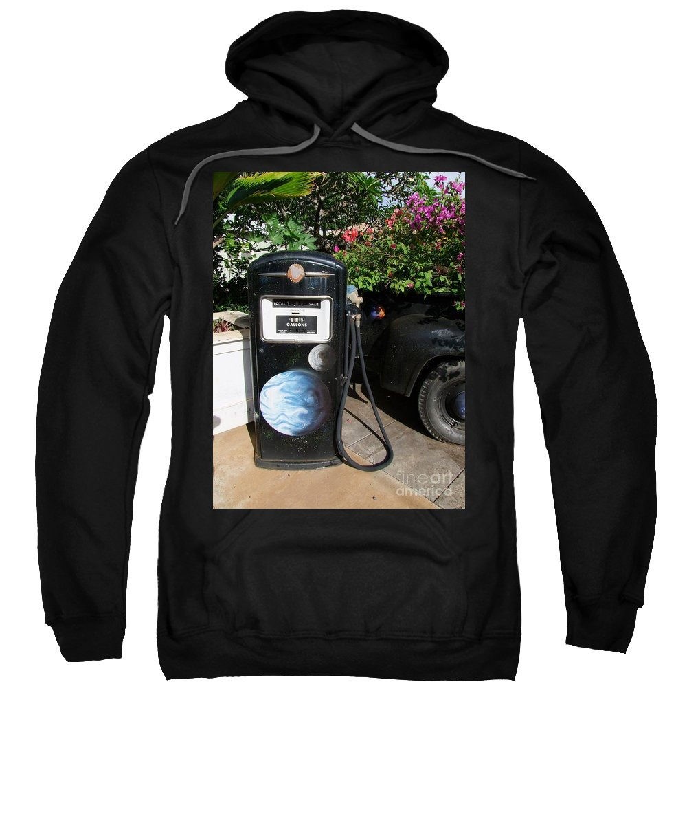 Mary Deal Sweatshirt featuring the photograph Vintage Gas Pump by Mary Deal