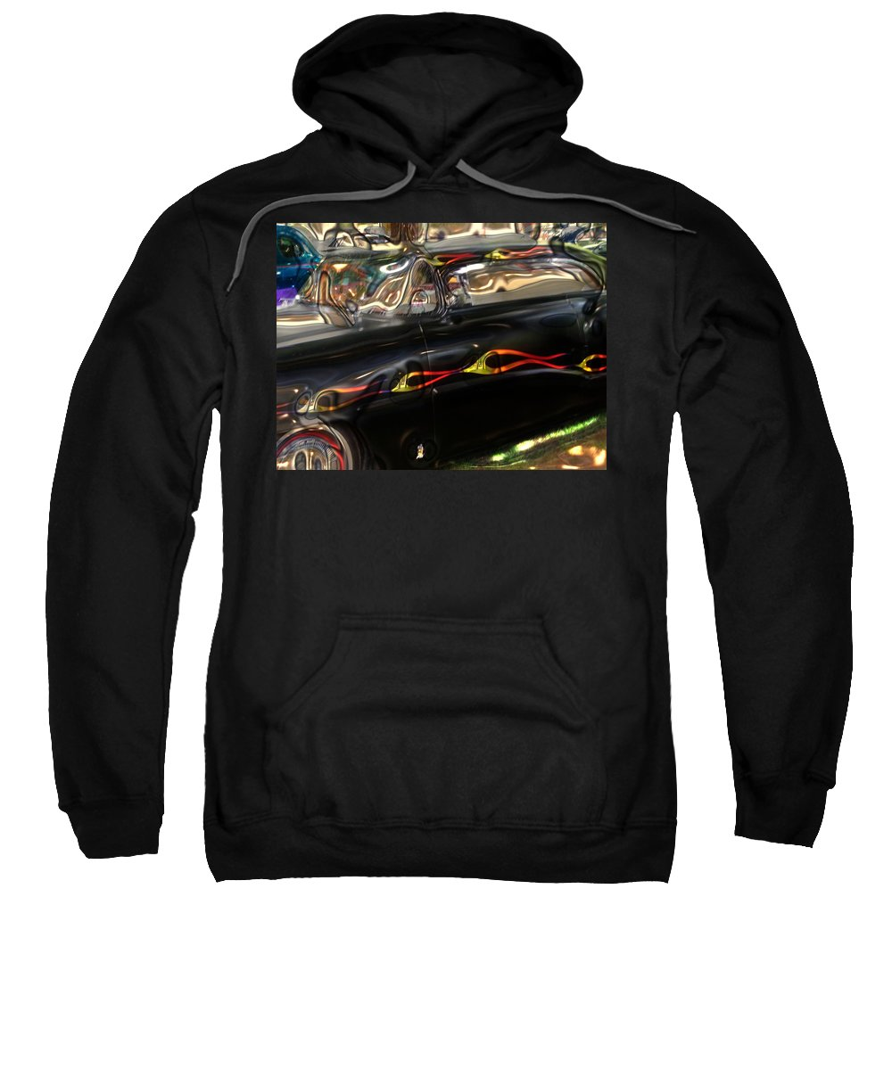 Digital Photos Of Cars Sweatshirt featuring the photograph Vintage Metal by Christy Leigh