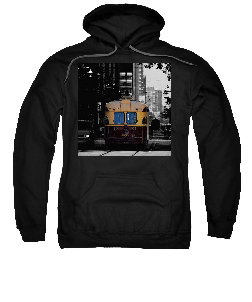Vintage Trolley Sweatshirt featuring the photograph Vintage Trolley by Andrew Fare