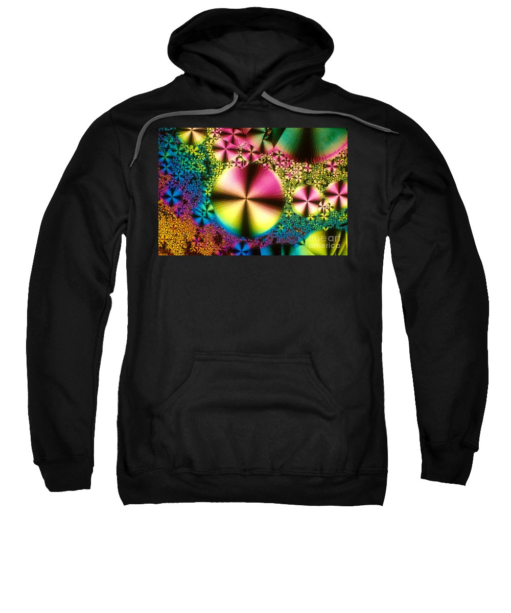 Chemistry Sweatshirt featuring the photograph Vitamin B1 Crystal by Michael W Davidson