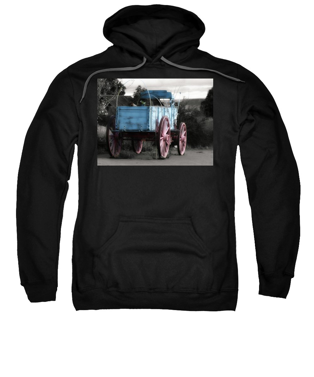 Cart Sweatshirt featuring the photograph Wagon Ho by Linda Dunn