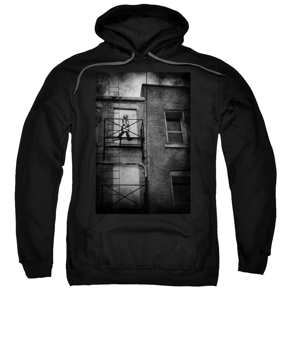 Jerry Cordeiro Sweatshirt featuring the photograph Walk On White by The Artist Project