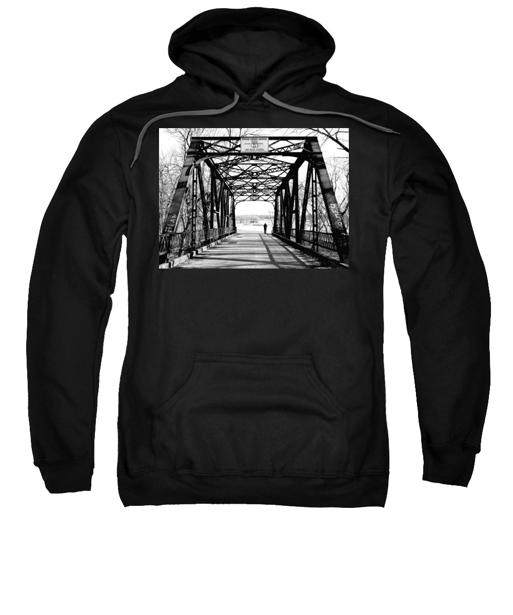 Route 66 Sweatshirt featuring the photograph Walking Away by Heather Hollingsworth