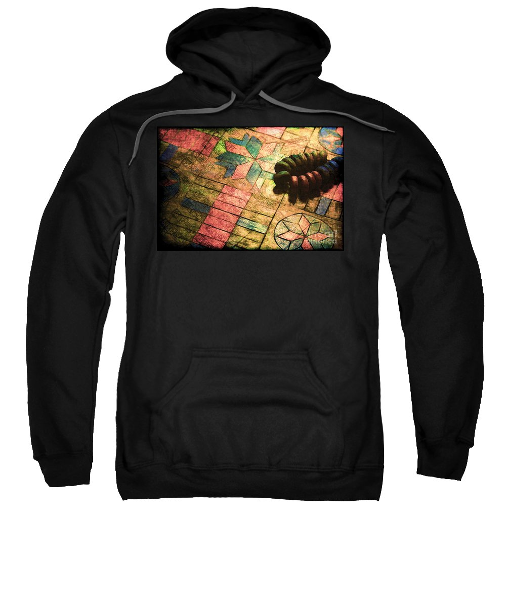 Parcheesi Sweatshirt featuring the photograph War Games by Judi Bagwell