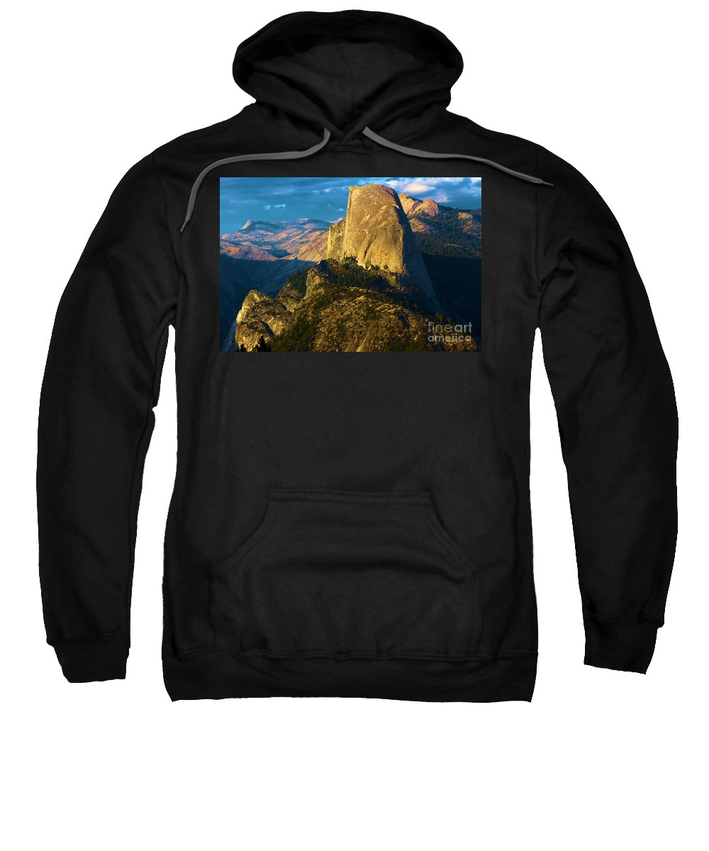 Half Dome Sweatshirt featuring the photograph Washburn Point Glow by Adam Jewell