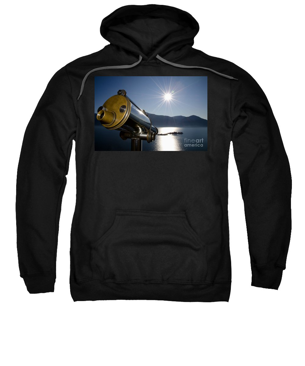 Telescope Sweatshirt featuring the photograph Watching With A Telescope Islands by Mats Silvan