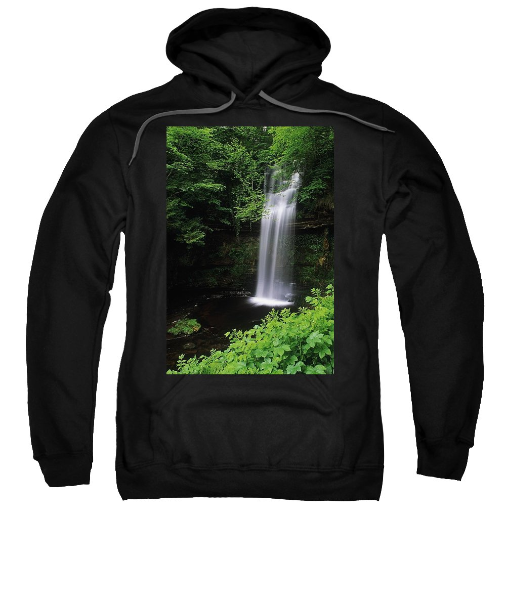 Body Of Water Sweatshirt featuring the photograph Waterfall, Ireland by The Irish Image Collection