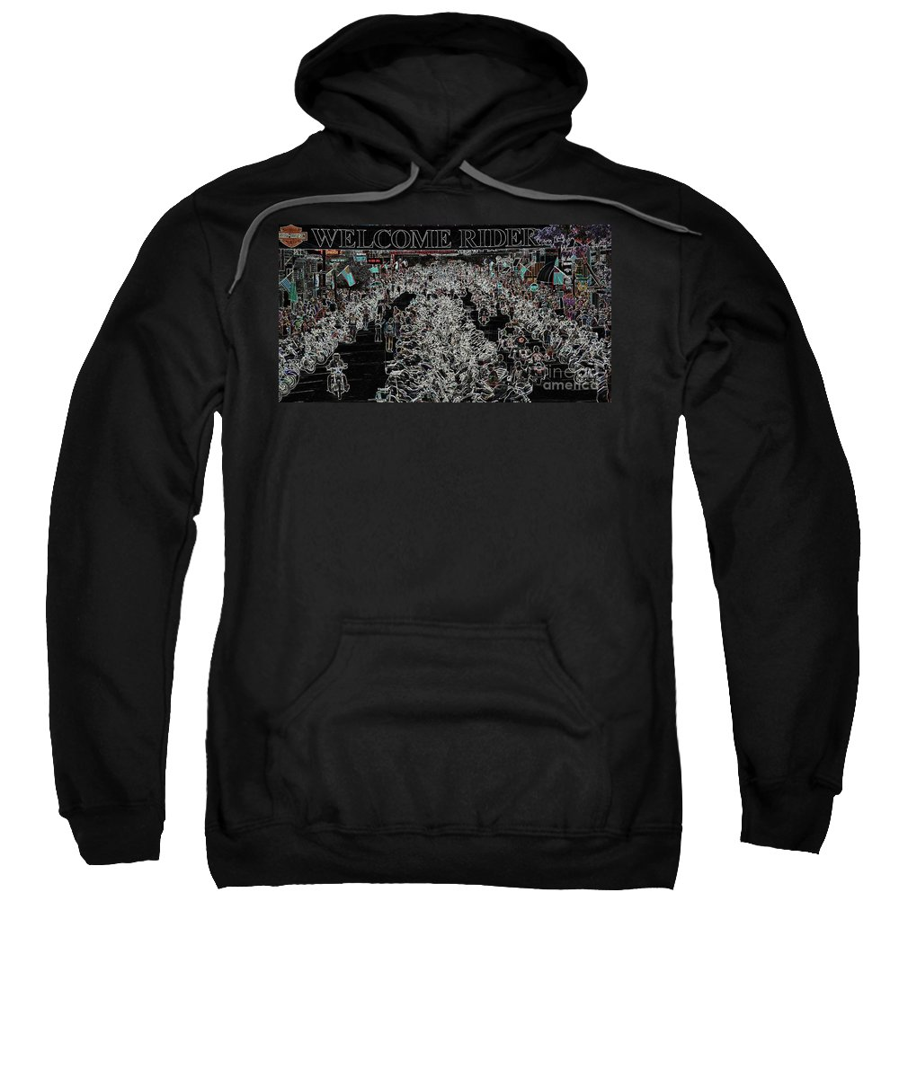Harley Davidson Sweatshirt featuring the photograph Welcome Riders by Anthony Wilkening