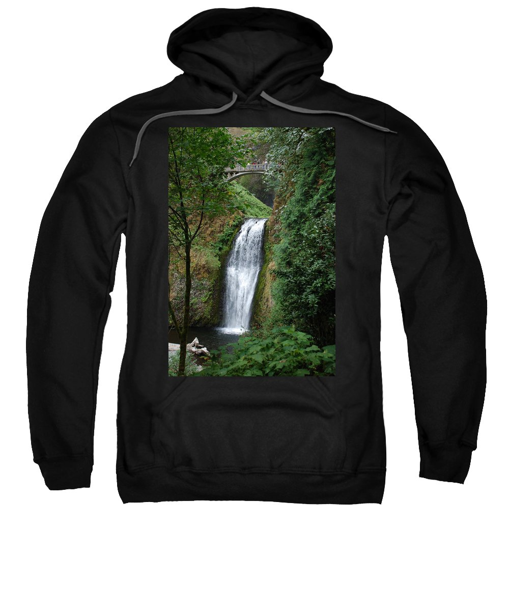 Waterfall Sweatshirt featuring the photograph Well Placed Waterfall by Eric Tressler
