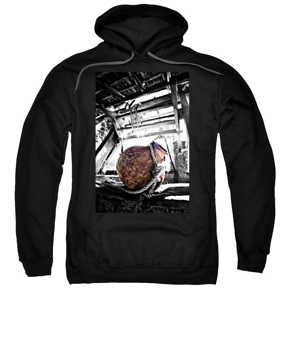 Well Sweatshirt featuring the photograph Well Water Copper Pot by Floyd Menezes