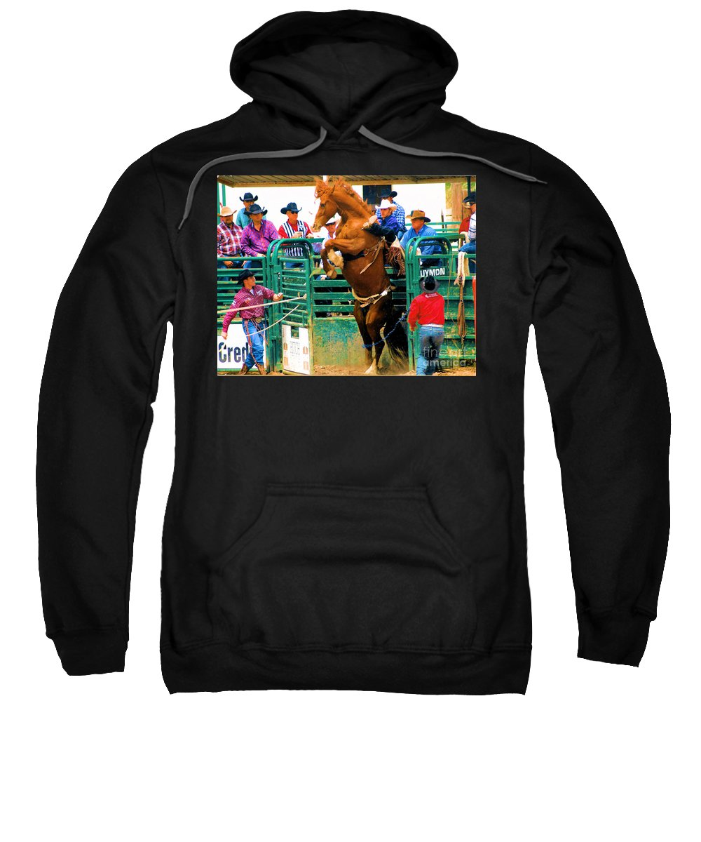 Photography Sweatshirt featuring the photograph When Cowboys Take Notice by Cheryl Poland