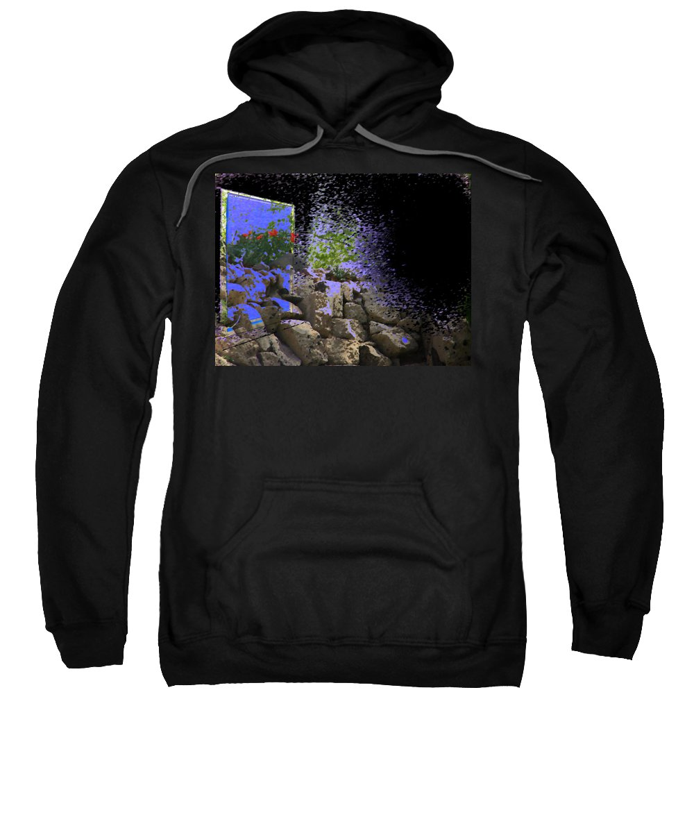 Abstract Sweatshirt featuring the photograph Window In The Aquarium by Lenore Senior