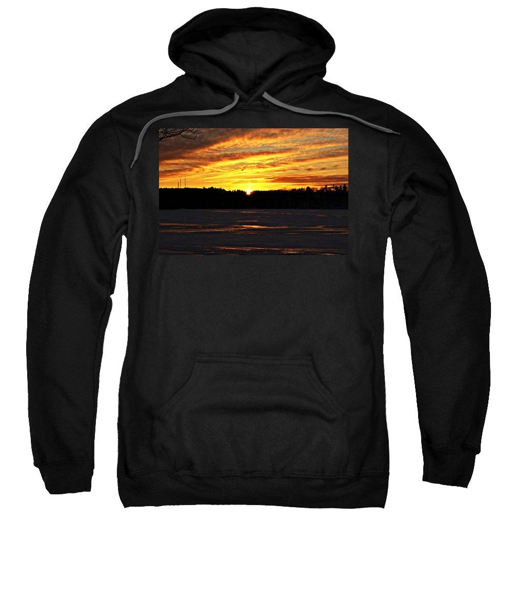 Sunset Sweatshirt featuring the photograph Winter Sunset I by Joe Faherty