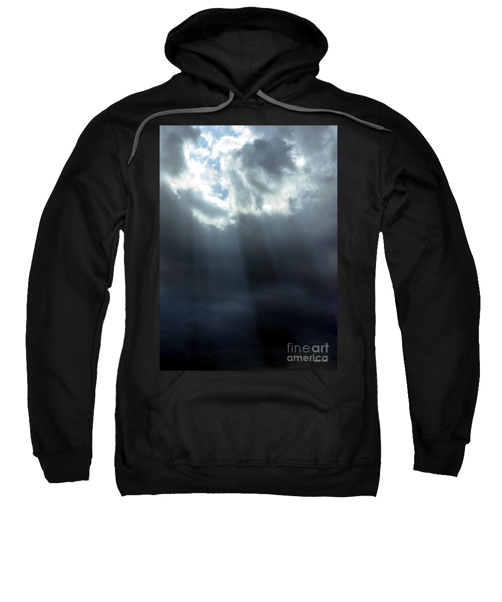 Tears Sweatshirt featuring the photograph With His Tears He Cleanses by Maria Urso