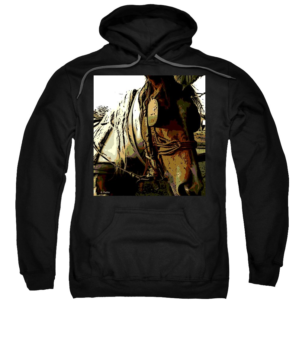Work Sweatshirt featuring the photograph Work Horse by George Pedro