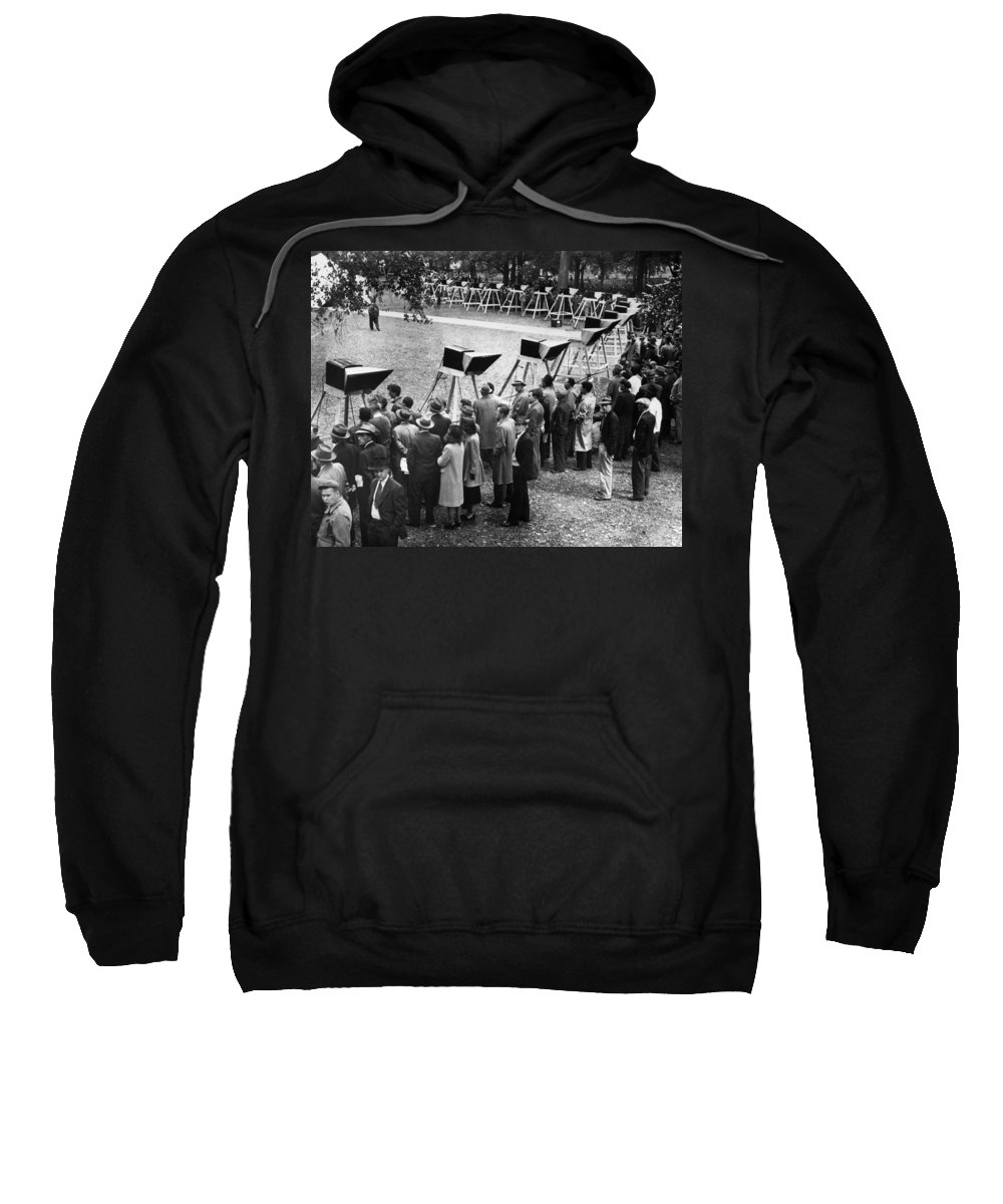 1948 Sweatshirt featuring the photograph World Series, 1948 by Granger