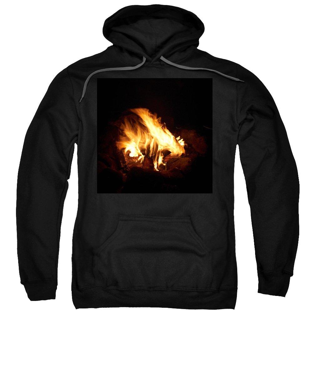 Lehtokukka Sweatshirt featuring the photograph Fire by Jouko Lehto