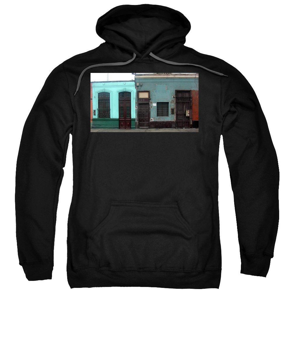 Lima Sweatshirt featuring the photograph Lima Peru Wall by Brett Winn