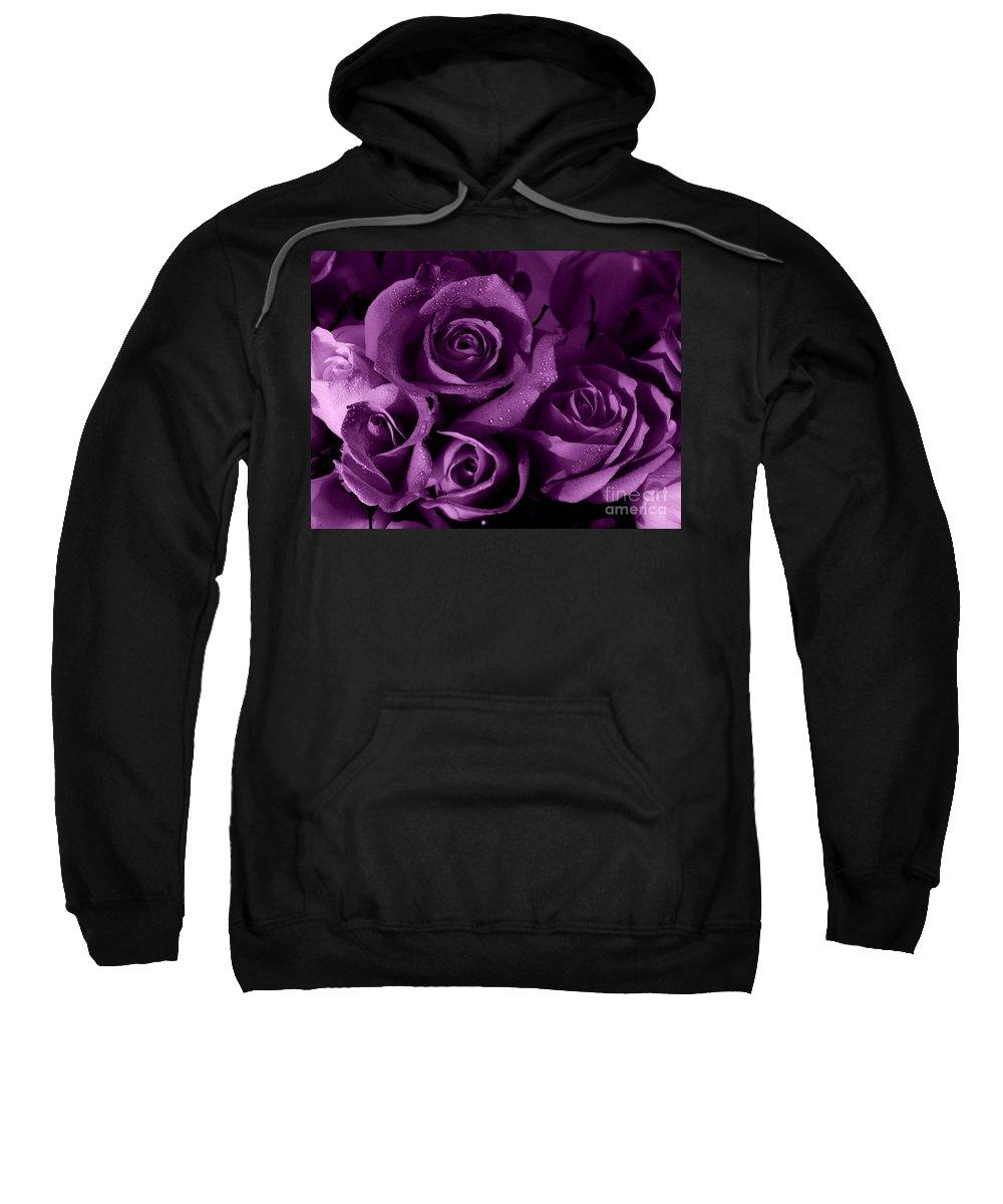 Roses Sweatshirt featuring the photograph Purple Haze by Nancie DeMellia